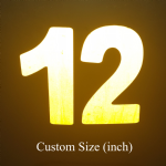 Reflective Race Number (inch) Custom Size